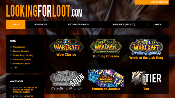 WowSfera presenta Lookingforloot.com