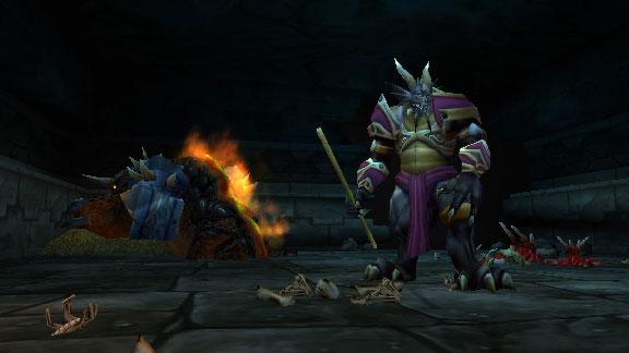Usa el Blandón de Invocación para invocar a Lord Valthalak en La Cámara de la Bestia de la parte alta de la Cumbre de Roca Negra