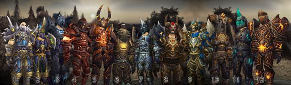 Conjuntos de armadura de Guerrero