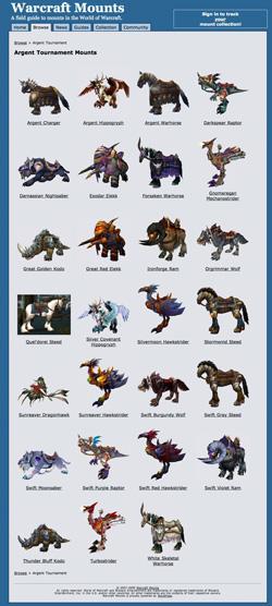 Galería de Monturas de World of Warcraft